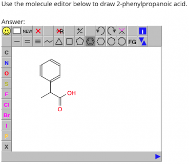 Organic nomenclature with Moodle